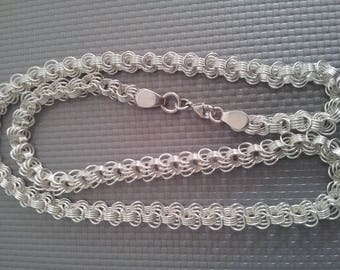 HAND made silver chain