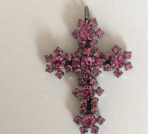Czech crystal cross pendant