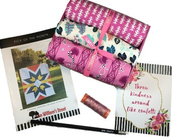 "Complete Modern Maker Box - Lagoon by Rashida Coleman-Hale for Cotton + Steel Fabrics (RJR) Box ""Pink"" -  Quilters Cotton"