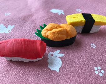 Japanese food -Sushi- eraser set