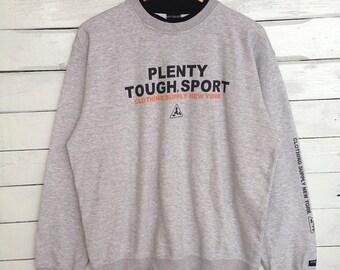 Sale 15% Rare !! Plenty Tough Sport Sweatshirt Big Logo Print Crewneck Hip Hop Swag Size 3L #A5
