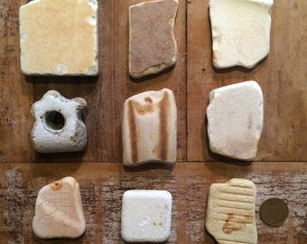 BEAUTIFUL SEA POTTERY ~ Quirky Beach Finds ~ Mosaic Making ~ Founds Objects ~ Beach Combed Treasure ~ Devon Sea Pottery