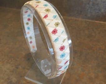 Cream and Flowers headband