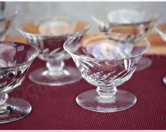 Set of 6 Baccarat Crystal champagne glasses model Beauchene