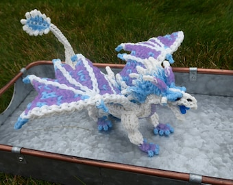 Rainbow Loom Winter/IceWing from Wings of Fire with Color Changing Solar Bands