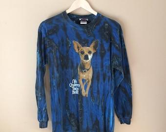 Vintage Taco Bell Chihuahua Long Sleeve T Shirt (Yo Quiero Taco Bell)