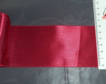 2 m 80 satin ribbon double sided red width 6 cm new great quality