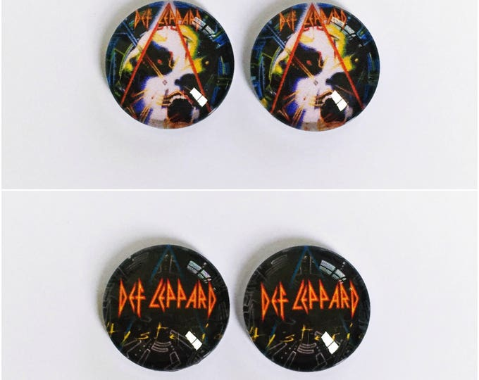 The 'Def Leppard' Glass Earring Studs