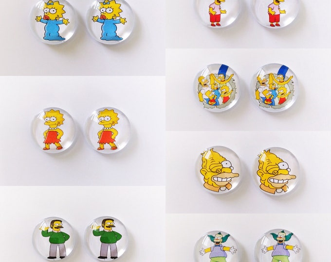 The 'Simpsons' Glass Earring Studs