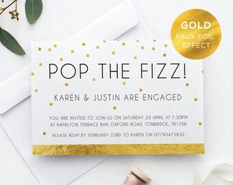Printable Engagement Party Invitation/ Engaged/ PDF/ Download/ Custom/ Karen suite #028