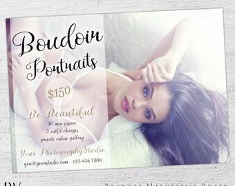 Boudoir Mini Session Template, Valentine Photography, Photoshop Templates for Photographers, Boudoir Photography, Boudoir Marketing