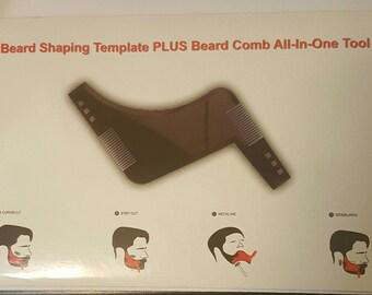 beard comb - beard grooming - beard shaper - gift idea for him