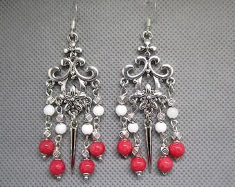 jade stone chandelier earrings.