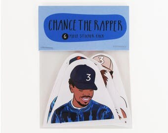 CHANCE THE RAPPER, 6 piece sticker set, Chance the rapper stickers, Chance coloring book, acid rap,rapper art, rapper stickers, rapper gift