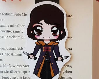 """Magnetic bookmark """"Purple Bard"""" - inspired by A darker shade of magic by V. E. Schwab"""