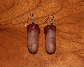 Severed Pinky Earrings