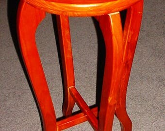 Folding Wood Plant Stand or Side Table