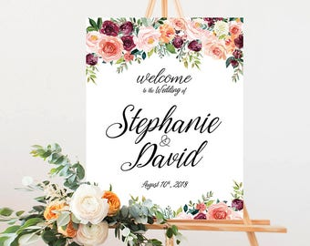 Wedding Welcome Sign, Winter Wedding Welcome Sign, Navy Blue, Navy and Sliver Wedding , Winter Wedding sign - US_WSa2