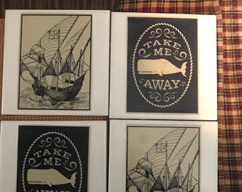 Set of 4 Coasters- Take Me Away