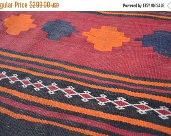 35% OFF Final sale Vintage Afghan Maldari kilim/ tribal kilim