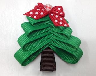 My beautiful fir Christmas tree girl hair clip