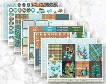 Cottage Christmas Weekly Planner Sticker Kit