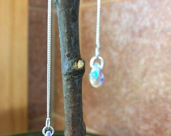 Earring-Elegant 4mm Drop Swavorski crystal earring