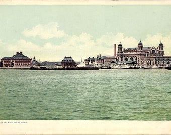 Near MINT c.1930s New YorkCity, ELLIS ISLAND, Immigration Building; Phostint Card; Postally Unused, Crisp, Clean Condition