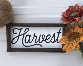 Harvest Sign | Harvest Wood Sign | Harvest Wooden Sign | Fall Sign | Fall Decor | Autumn Decor | Farmhouse Sign | Wood Sign | Autumn