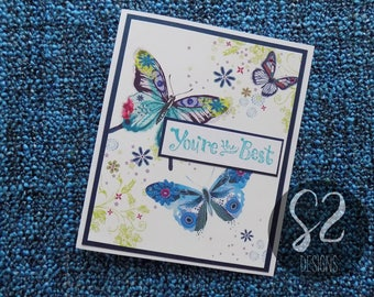 Handmade Butterfly You're the Best Card