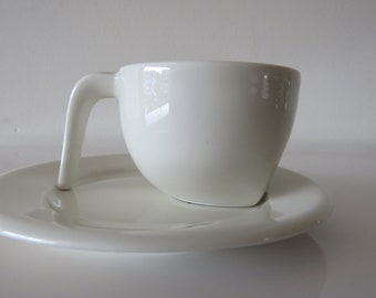Coffee cup and saucer. Arabia Finland. Stefan Lindfors. 90's.