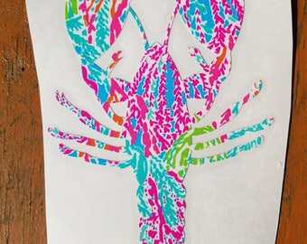 Lilly Inspired Lobster Vinyl Decal