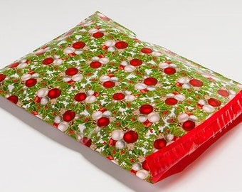 10 - 10x13 Green & Red Christmas Designer Poly Mailers Envelopes Bags