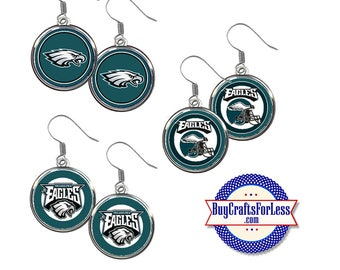 PHILADELPHIA Football EARRINGS, CHooSE Logo - Super CUTE!  +FReE SHiPPiNG & Discounts*