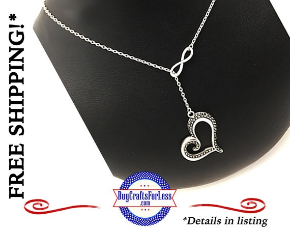 "Infinity HEART Love Necklace, 24"", Gift Box Avail.- Best Seller +FREE SHiPPiNG & Discounts*"