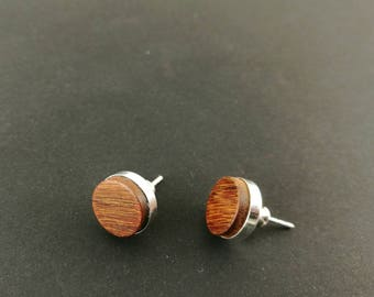 Earrings by Wūūd - Sterling Silver (925) and Natural Ipe Wood