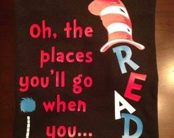 dr seuss shirt for kids read across america child shirt. Black Bedroom Furniture Sets. Home Design Ideas