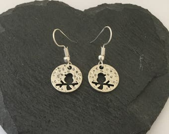 Bird earrings / bird jewellery / pet jewellery / animal jewellery / animal lover gift