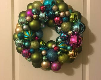 Multi Color Wreath with Lights