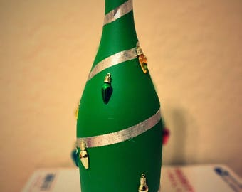 Christmas Tree Wine Bottle