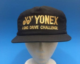 Vintage Yonex Tennis Trucker Hat Adjustable 1980s Luxury