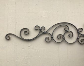"""Wrought Iron Sign Hanger Wall Bracket Store advertising with bracket 30"""" X 9"""""""