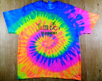 ON SALE! Vintage Jamaica Tie Dye Rasta Yeahmon Shirt