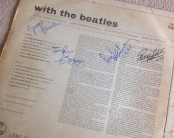 The Beatles LP 'with the beatles' 1963 with all four signatures