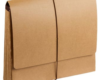 1CT Kraft 21 Pocket Folder, Kraft folder, Eco-Friendly, Kraft Paper, Kraft Supplies, EcoFriendly Stationary, Stationary, Business, Folders