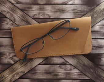 Leather Glasses Case / Reading Glasses Case / Glasses Sleeve / Personalized Leather Glasses Case / Reading Glasses Holder / Eyeglasses Case