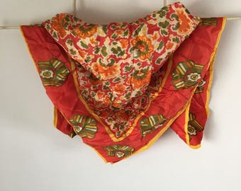 Bright Floral Poly Scarf