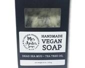 Dead Sea Mud + Tea Tree Soap | Blemish Soap | Acne Soap | Feminine Soap | Minimalist Soap | Minimalist Gift Idea for Vegan | Zero Waste