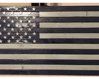 19 X 36 Cowboy American Flag