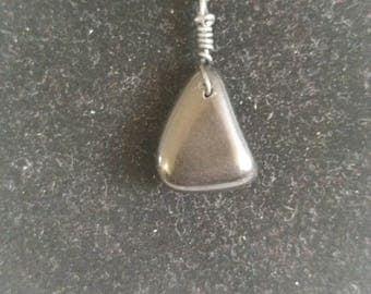 Obsidian pendant